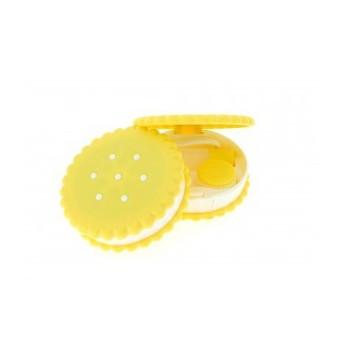 Kolorowe etui z pęsetą - Ciastko żółte