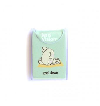 Czyścik do okularów Zielony Kotek