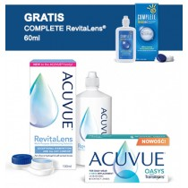 Acuvue® with Transitions + płyn Acuvue RevitaLens® 100 ml