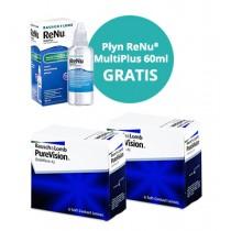 PureVision 6 sztuk + Renu MultiPlus 60 ml