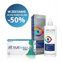 Zestaw SEE L'EAU PureColor 360ml + All Vue Colors Soft