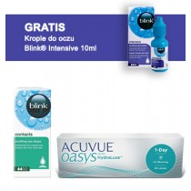 Acuvue Oasys 1-DAY + Blink Contacts + Blink Intensive GRATIS